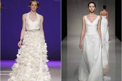 Saiba quais são os cortes de vestido de noiva ideais para corpos em forma de 'triângulo invertido'