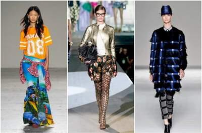 Milano Moda Donna SS2015, creazioni di Stella Jean - dsquared2 e Marco De Vincenzo. Foto via milanomodadonna.it