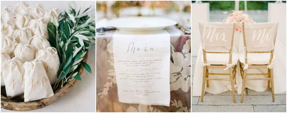 Tote bag, cadeau d'invité, décoration : la calligraphie sur tissu a la cote !