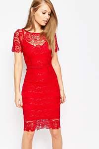 Czerwone, krótkie sukienki na wesele 2017