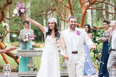 Casamento de Beatriz & Pedro: estilo Boho Chic bem pertinho da natureza!
