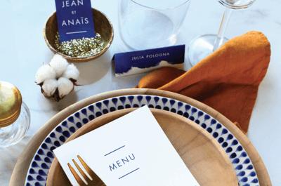 Las decoraciones para tu menú de bodas más creativas: ¡10 ideas sensacionales!