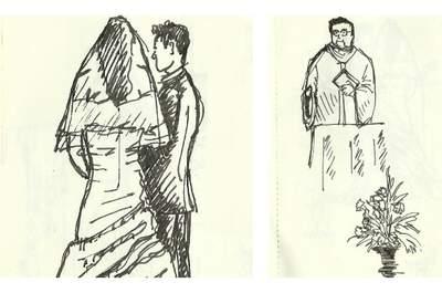 Croquis en live le jour du mariage :  rien de tel pour capter ces instants magiques !