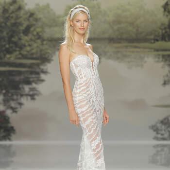 Opta por un vestido de novia con transparencias. ¡Estarás radiante con el efecto tatuaje!