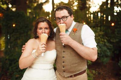 Süßes Highlight für die Hochzeit: der Eis-Stand für Hochzeitsgäste