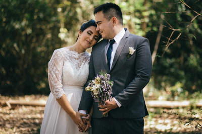 Mini wedding no campo de Juliana & Gustavo: rústico e minimalista com extremo bom gosto!