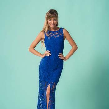 39bbc2c73 Más de 60 vestidos de fiesta azules. ¡Un color elegante y clásico ...