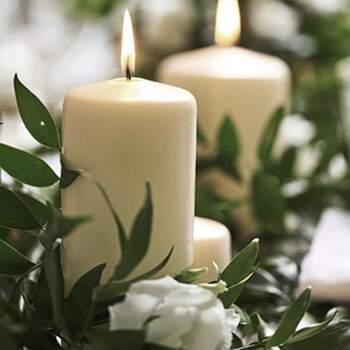 Bougie décorative ivoire moyenne 6 pièces - The Wedding Shop !