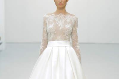 50 vestidos de novia corte princesa 2016: elegantes y refinados