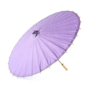 Sombrilla de bambú lila - Compra en The Wedding Shop