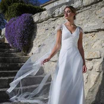 Robe de mariée intemporelle modèle Quartz - Crédit photo: Elsa Gary