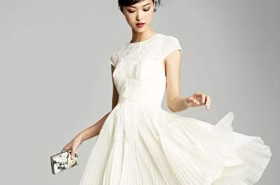Vestidos de novia cortos para una boda en primavera-verano 2013