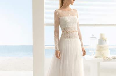 Vestidos de novia dos piezas: ¡Divide y arrasa!