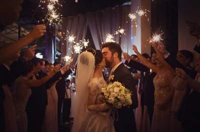 Casamento clássico e de princesa de Amanda e Guilherme: romântico, elegante e dos sonhos