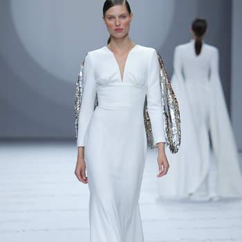Isabel Sanchis. Créditos: Barcelona Bridal Fashion Week