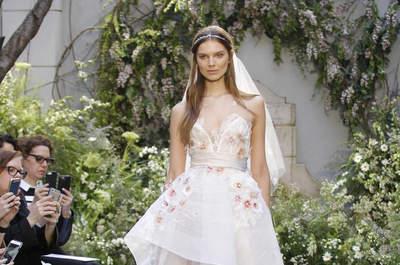 Vestidos de novia Monique Lhuillier 2017: Un jardín de fantasía y encanto