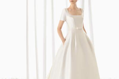 Quadratisch, praktisch, gut: Brautkleider 2016 mit einem kantigen Dekolleté für Ihren modernen Auftritt!