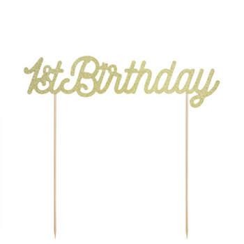 Figura Para Tarta Primer Cumpleaños Con Brillo- Compra en The Wedding Shop