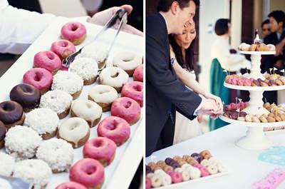 Riquísimo: Deliciosas donas para la mesa de postres de tu boda