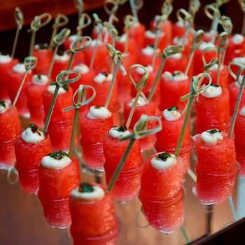 Watermelon ao creme azedo e especiarias