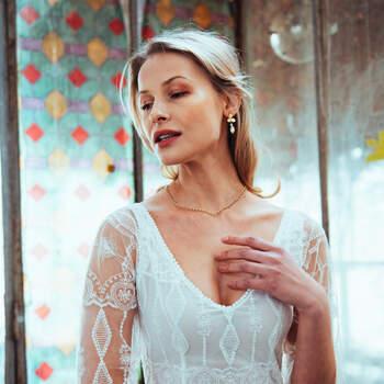Photo : Guillaume Gilles - Elsa Gary, robe de mariée La vie en rose