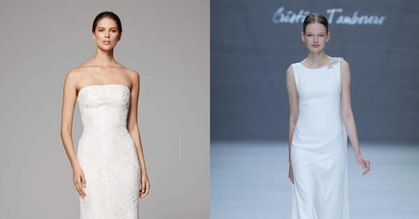 1a39991232cb Vestidos de noiva com corte reto: elegância absoluta!