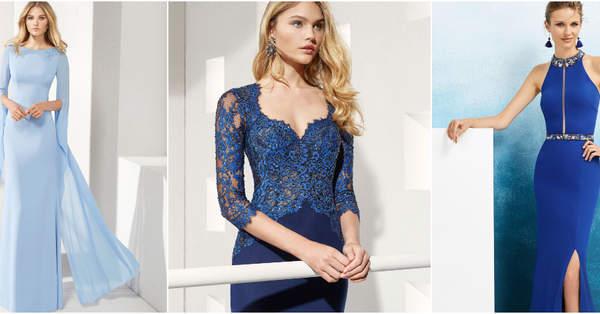 5c8623707 Más de 60 vestidos de fiesta azules. ¡Un color elegante y clásico para tu  look de invitada!