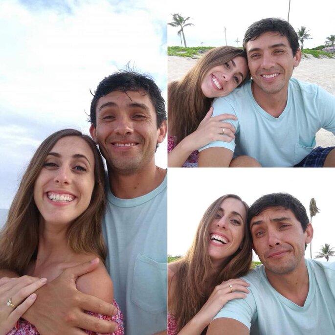 """Facebook: Daniela Camaiora """"Dije que SI!!! Y lo quiero compartir con ustedes!!! Me caso amigos!!!!"""""""