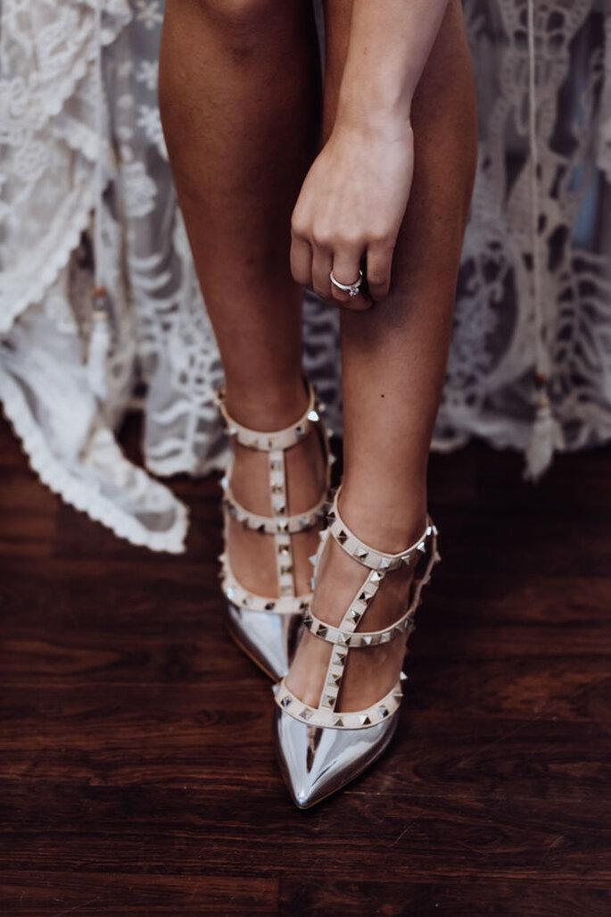 Foto der sinnlichen Brautschuhe.