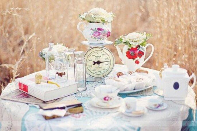 Té verde y agua para bajar de peso antes de la boda - Foto Simply Bloom