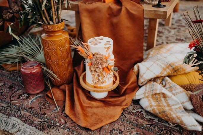 Die Farben des Orients Hochzeitsdekoration Torte