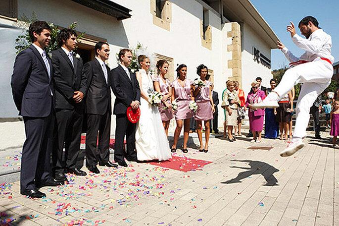 Es importante acordar con el fotógrafo de la boda cómo se van a realizar las fotografías. Foto: Doble A Foto