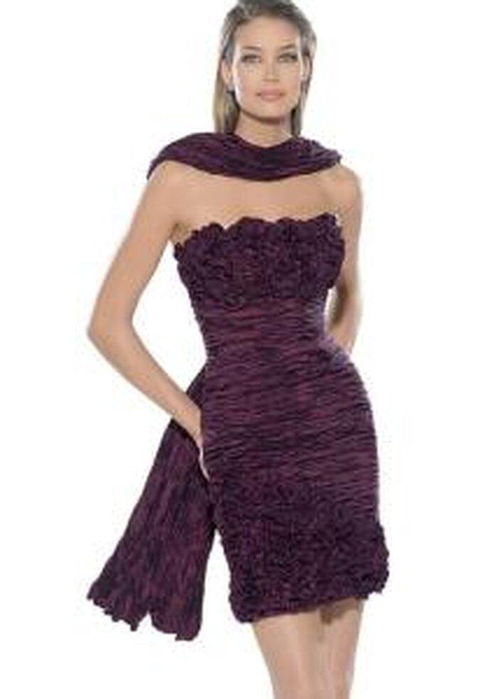 La Sposa 2009 - Vestido negro corto con chal a juego