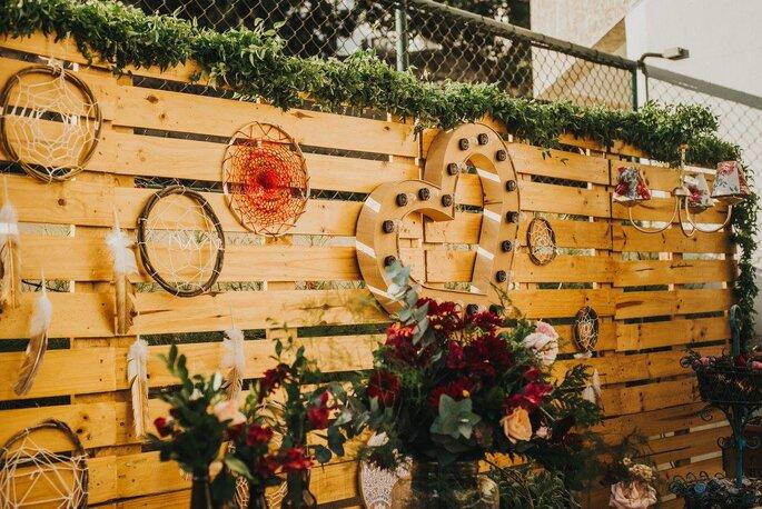 decoraçao com caixotes de feira