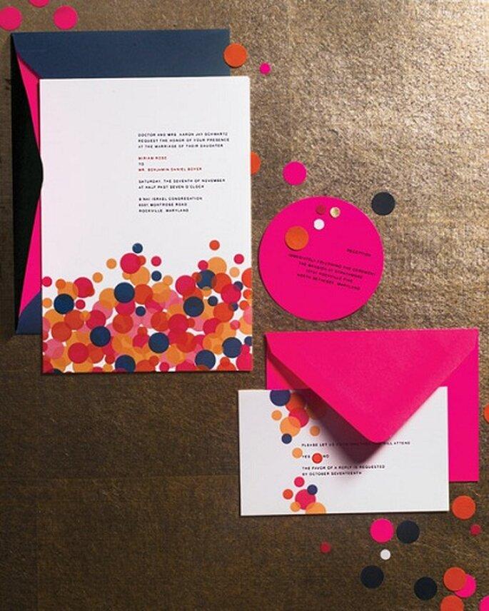 Martha Stewart Confetti Stationery.