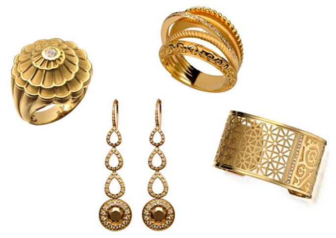 Las joyas de Carrera & Carrera que Jessica lange lució en los Emmy. Foto: Carrera & Carrera