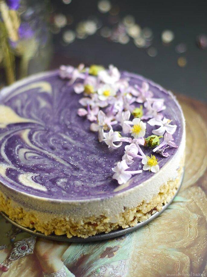 Bolo cheesecake para casamento