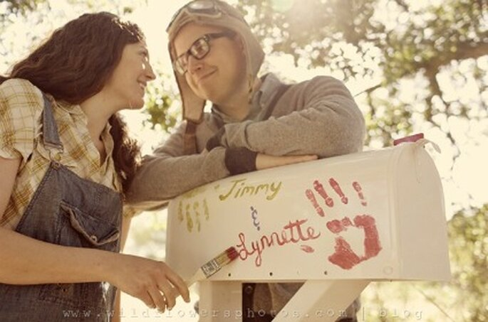 Boîte aux lettres des mariés - Credits Wildflowersphotos.com