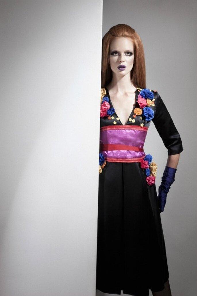 Este vestido de Eugenio Loarce es ideal para la boda de tu amiga o de un familiar