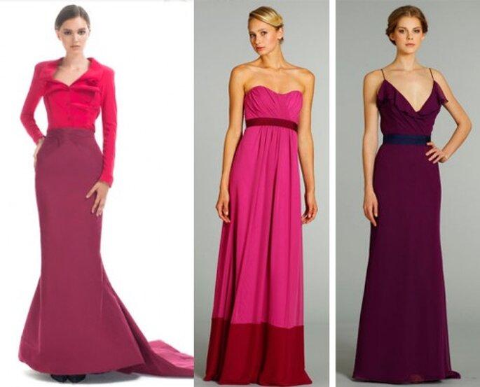 Vestidos de gala en tonos bicolor de moda en 2012 - Foto Moda Operandi y JLM Couture