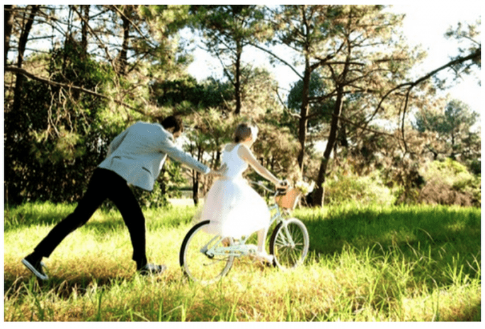 Decoración de una boda con bicicletas - Foto Infinity Photography