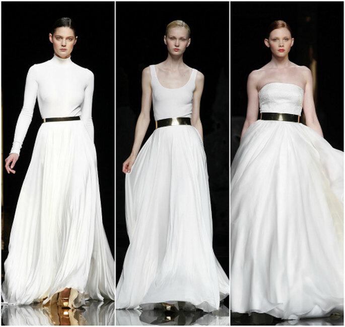 Para las menos atrevidas: apuesta por los complementos y accesorios de novia en color oro