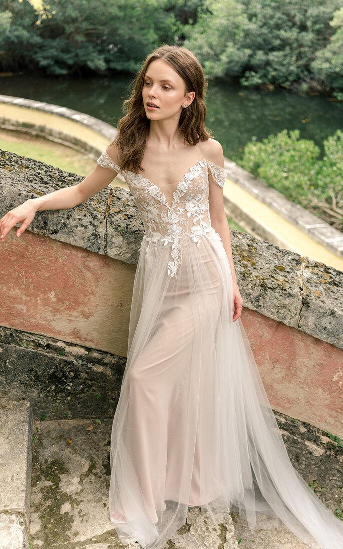 Vestido de novia en nude