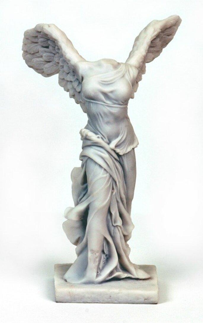 La Nike di Samotracia,dea greca della vittoria. Museo del Louvre, Parigi.