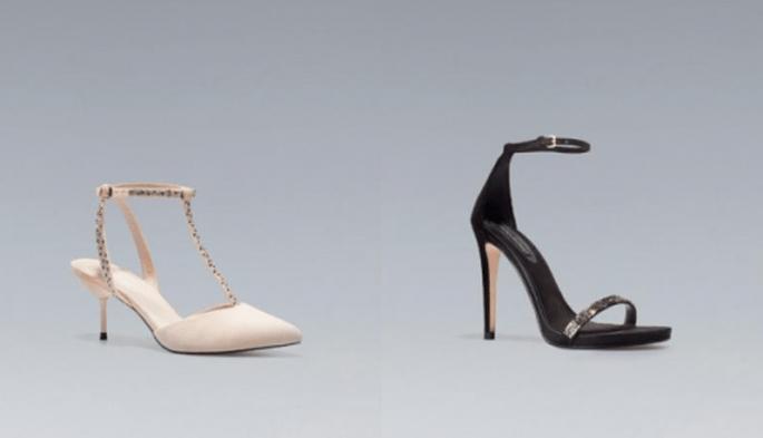 Zapatos para outfit de invitado de boda - Foto Zara