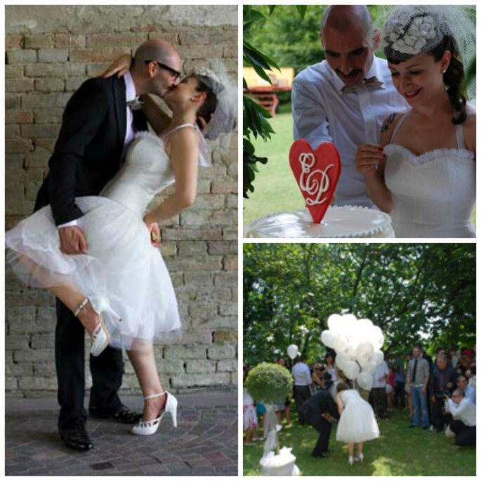 Vintage, low cost e DIY, che matrimonio splendido!