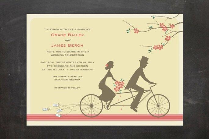 Ilustraciones románticas para invitaciones de boda - Foto Minted