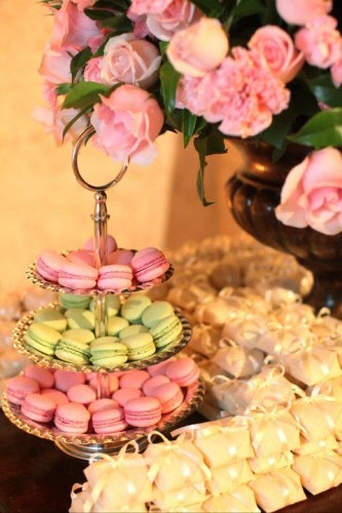 Dulces y bocadillos. Puedes añadir otros colores además del rosa. Foto de Boutique de 3