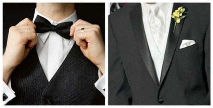Si el novio lleva la corbata torcida según la superstición éste le será infiel durante toda la vida de matrimonio.