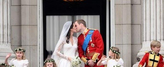 El beso de Guillermo y Kate Middleton
